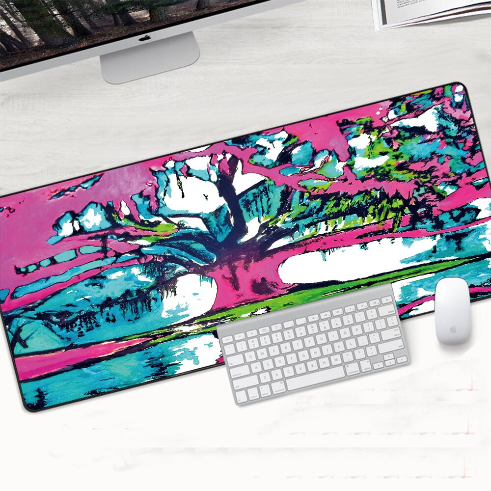 Large Mouse Mat Anti-slip Natural Rubber Locking Edge Computer Gamer Mousepad Keyboard Mice 30x80cm Mausemat Laptop Accessories