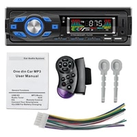 swm 616 car stereo with built in mic mp3 player u diskaux input car fm radio with steering wheel remote support voice control