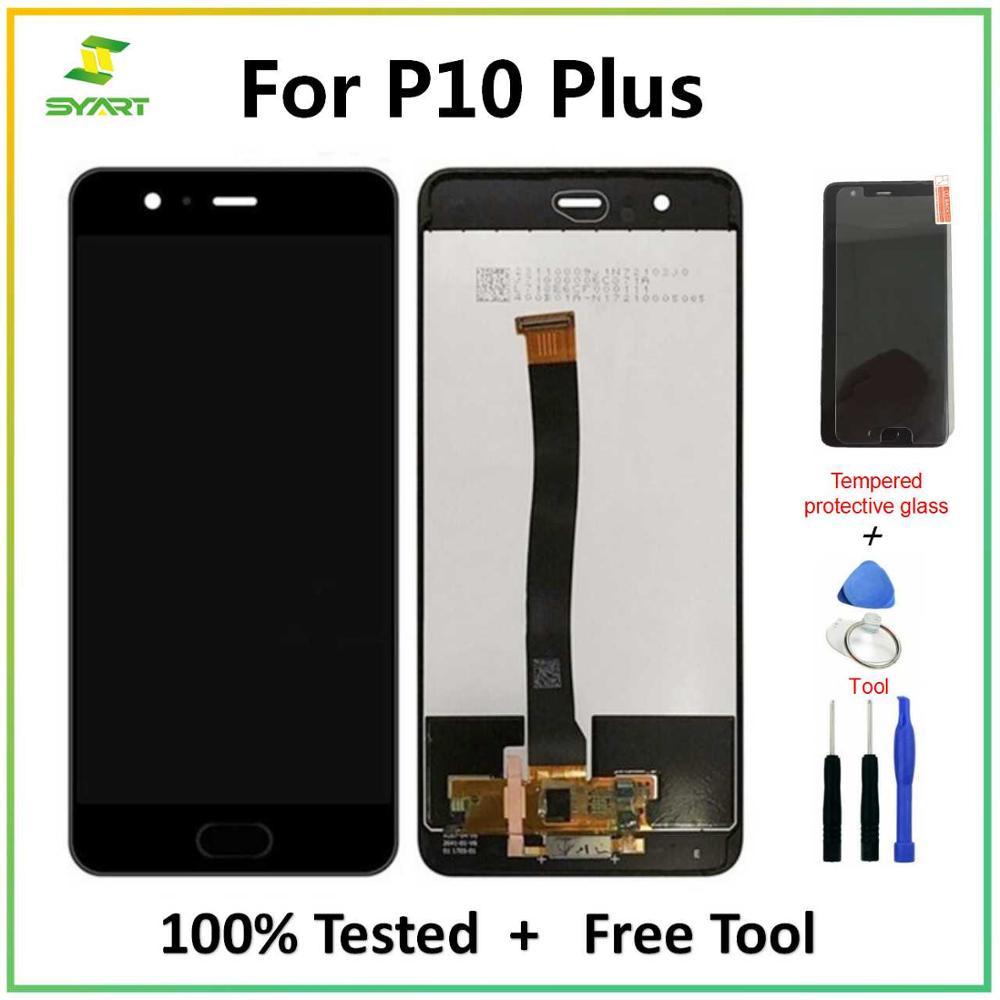 لهواوي P10 زائد P10plus LCD عرض + شاشة تعمل باللمس الجمعية محول الأرقام إصلاح استبدال أجزاء 5.5