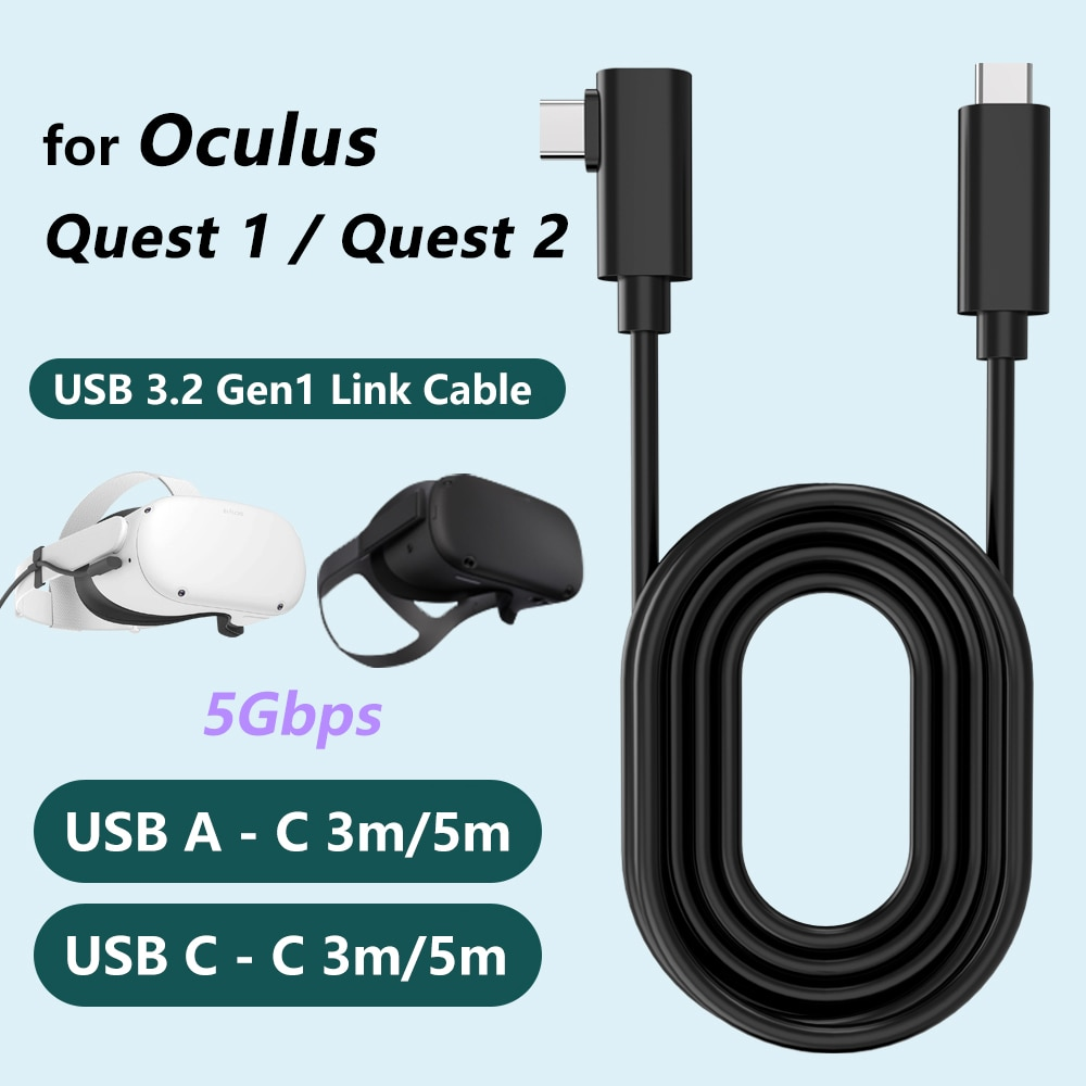 Cable de datos para Oculus Link usb-c Steam VR Quest/2 tipo-c 3,1,...