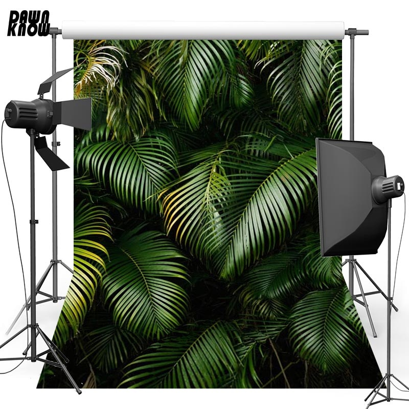 DAWNKNOW Leaf Vinyl Photography Background For Family New Fabric Polyester Backdrop For Wedding Photo Studio G627