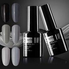 Beautilux 1pc Black Light Dark Charcoal Sage Grey Color Gel Nail Polish Soak Off Nails Gel Polish Lacquer Esmalte Smalto 10ml