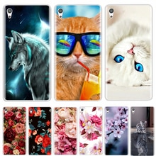 Phone Case For Sony Xperia XA XA1 Ultra Plus Soft Silicone TPU Fashion Flower Painted Back Cover For