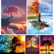 DIY 5D Diamond Painting Landscape Tree Fantasy Cross Stitch Kit Full Drill Square Embroidery Mosaic Art Picture Home Decor Gift