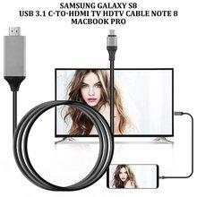 Type-C USB-C HDMI HDTV 4K кабель для samsung Galaxy Note 8 9 S10 + Plus