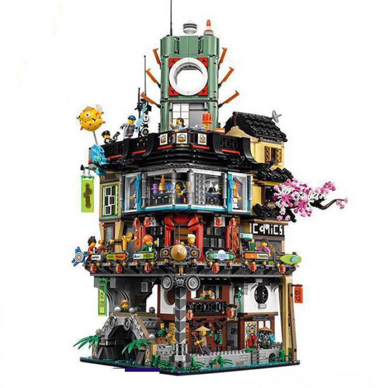 Lepining DHL 06066 4953 Uds Ninjago City Masters of Spinjitzu bloques ladrillos juguetes 70620 juguetes como regalos de cumpleaños