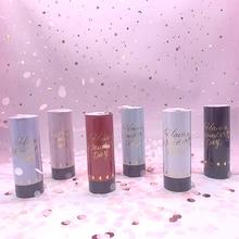 Confettis métalliques dorés 1 pièce   Canons poppers de fête, feux dartifice portables, danse de mariage, noël, KTV, célébration du nouvel an