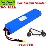 varicore 36v 10 0ah 18650 lithium battery pack for xiaomi m365 42v 10000mah foldable smart electric scooter mi light skateboard