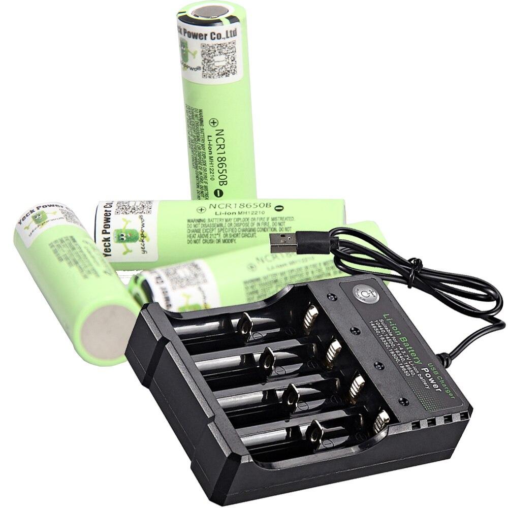 18650 batterie li-ion batteries rechargeables ion 3400mah 3.7V akkumulator plat haut li-ion chargeur de batterie