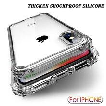 กันกระแทกกรณีซิลิโคนโปร่งใสสำหรับ iPhone 13 11 Pro Max XR X XS โทรศัพท์มือถือ Shell สำหรับ Iphone 7 8 Plus 12ปกหลัง