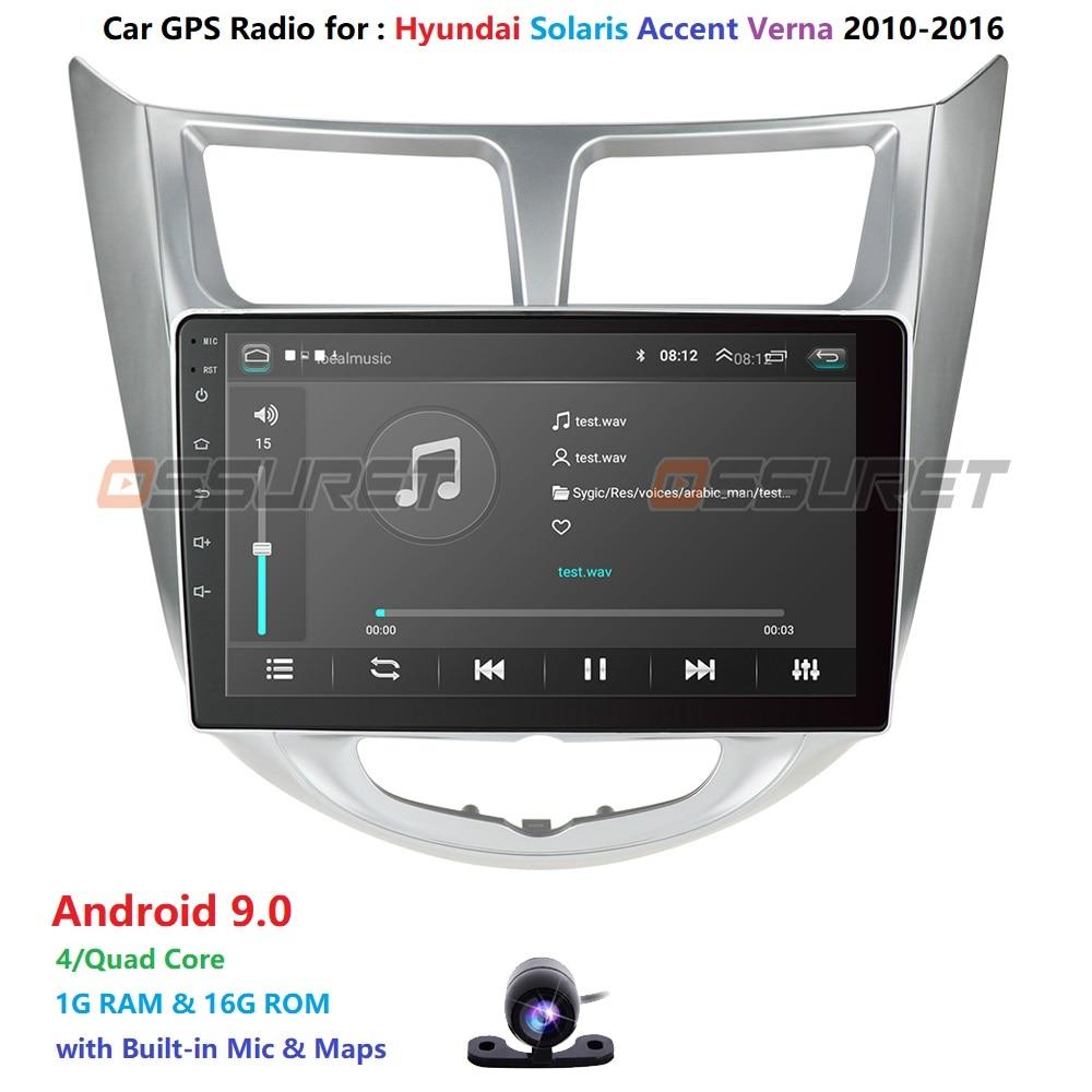 Car Radio Multimedia Video Player Navigation GPS Car Android For Hyundai Solaris Accent Verna 2011 2012 2013 2014 2015 2016 WIFI