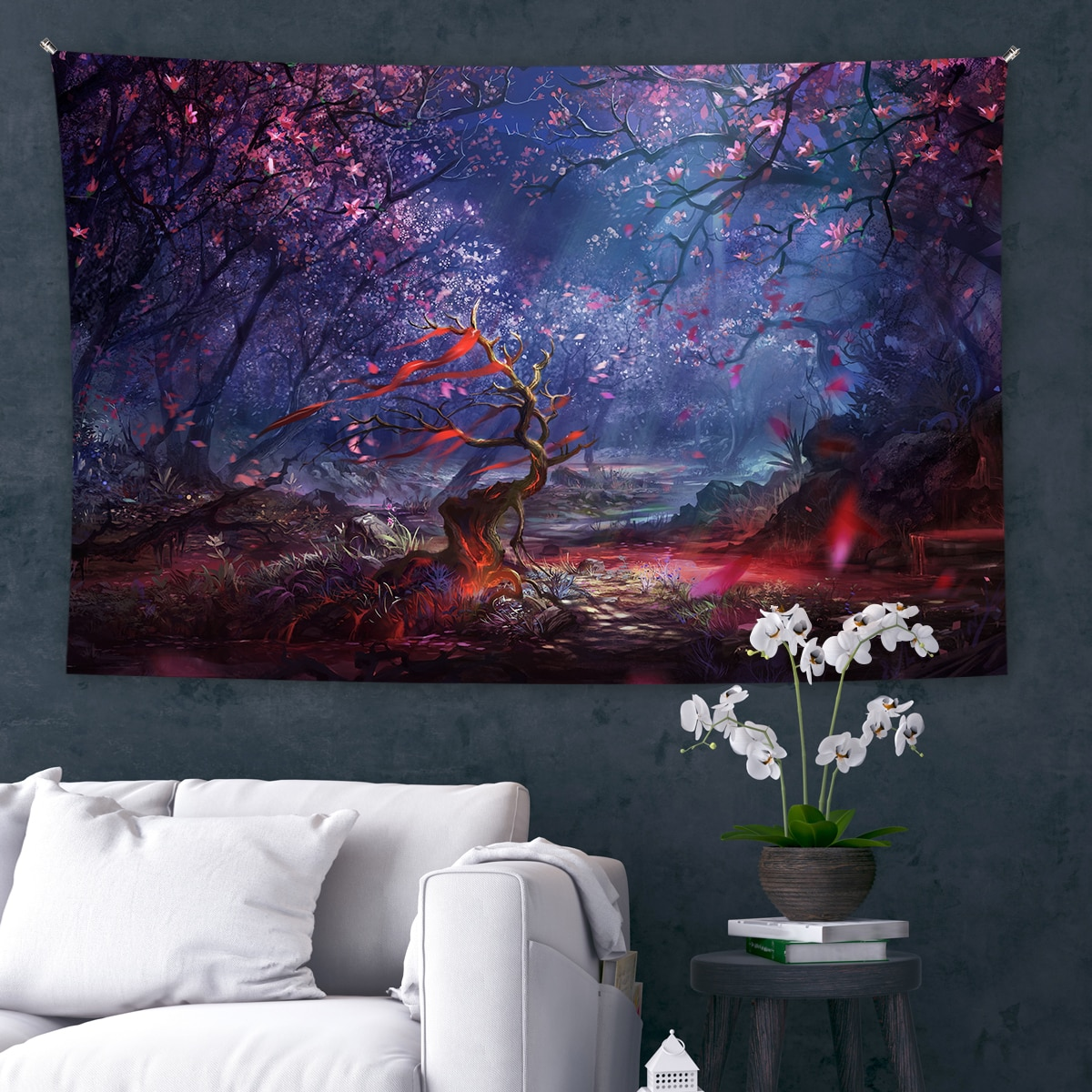 Psychedelic Mushroom Tapestry Starry Sky Tapestry Trippy Wall Tapestry Fantasy Plant Tapestry Wall Hanging For Dorm Home Decor psychedelic brick dorm decor wall hanging tapestry