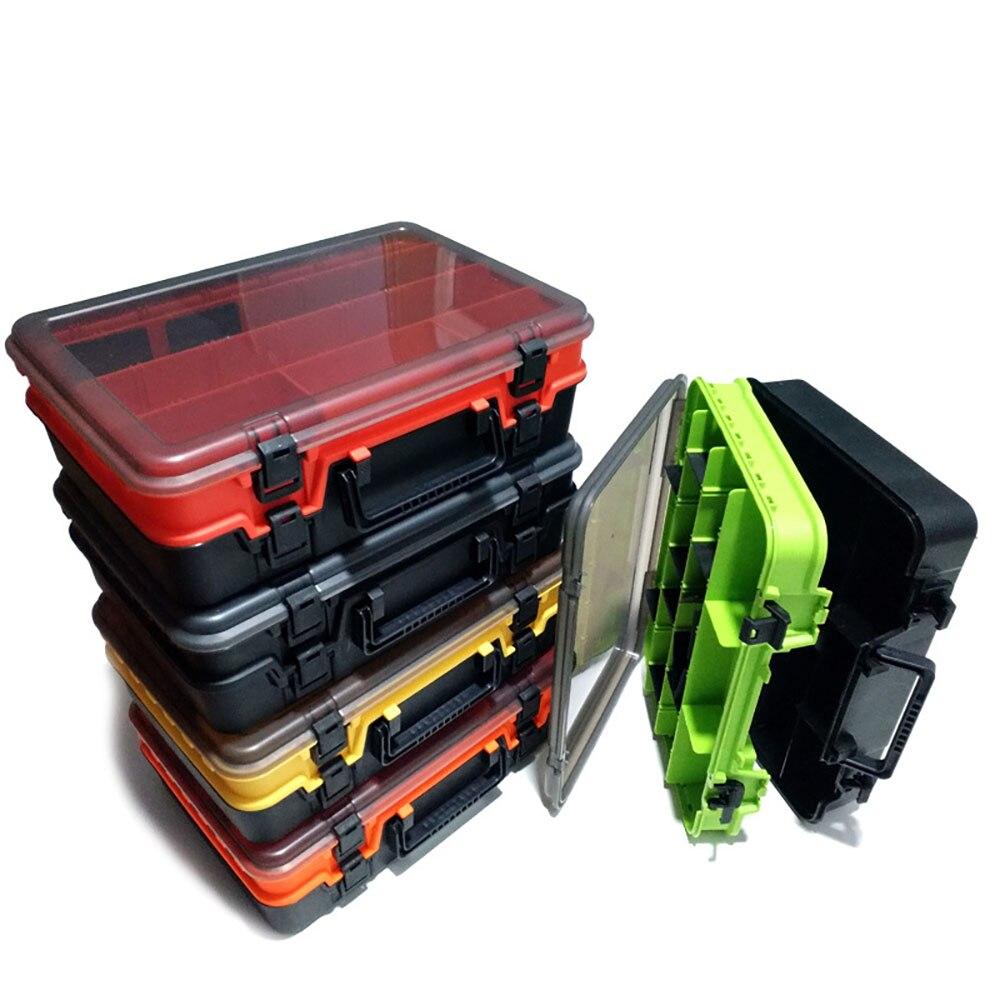2021 Large-Capacity Double-Layer Fishing Tackle Box Multifunctional Carp Fishing Accessory Storage Box Portable Fishing Bait Box