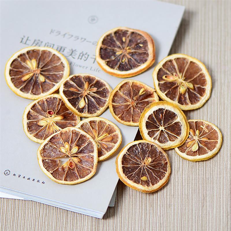 Paquete de 1 rebanada de limón seco, fruta seca Natural multipropósito para DIY, jabón artesanías, Fabricación Manual, accesorios de Material DIY