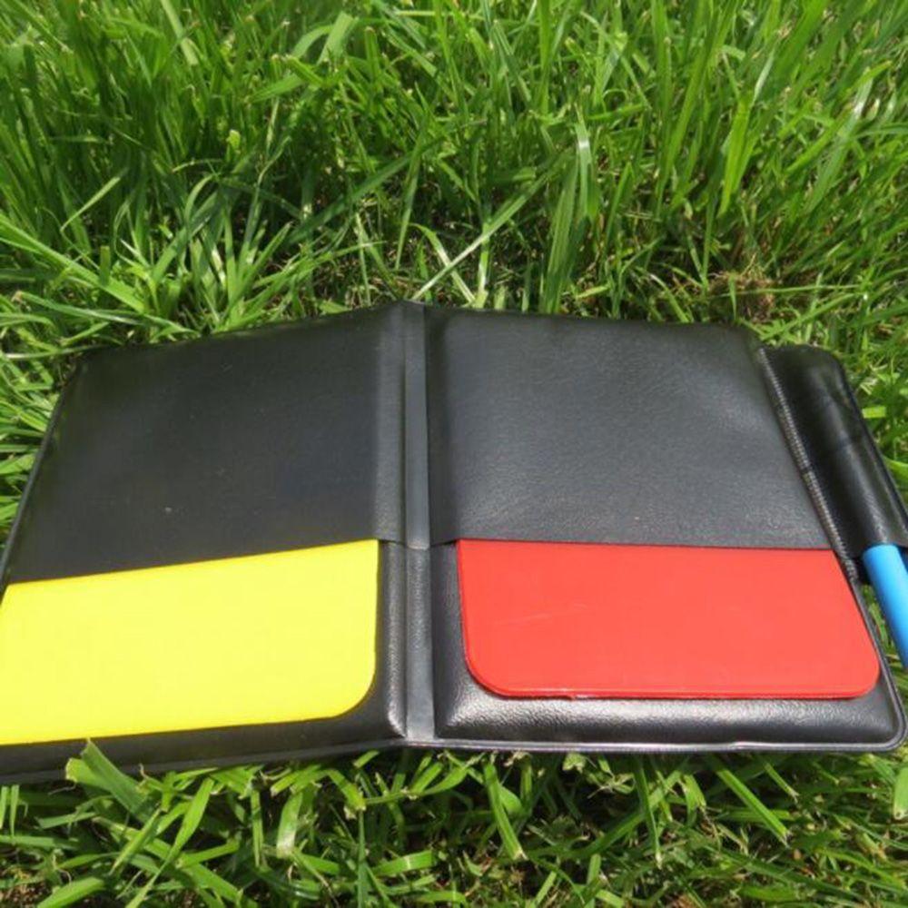 Tarjeta Roja amarilla para árbitro de fútbol, bolígrafo táctico para partido deportivo, juego de sábanas de fútbol, suministros de entrenamiento para competición de fútbol