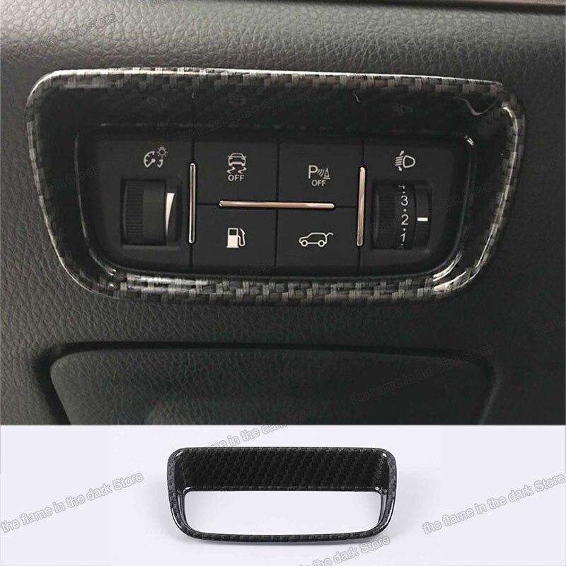 Lsrtw2017 Changan Cs95 araba far anahtarı çerçeve düzeltir oto İç aksesuarları için krom 2017 2018 2019 2020 karbon Fiber