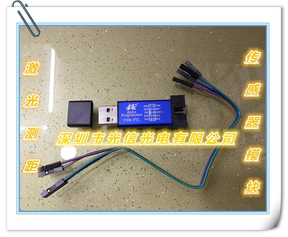 modulo do sensor da distancia do laser usb ttl microcontrolador stc 80 m 50 m 30 m