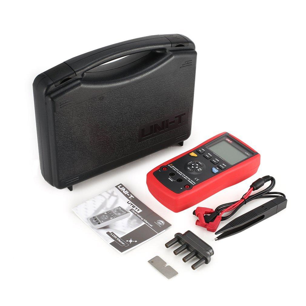 وحدة UT611 السعة متر مقياس قدرة دائرة التوالي 20000 خصم inالحل المقاومة متر مع شاشة LCD الخلفية