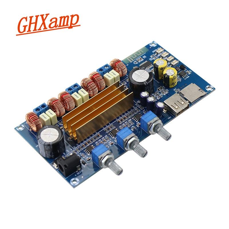 Ghxamp tpa3116 bluetooth 2.1 placa amplificador de alta fidelidade subwoofer potência digital amp 50 w * 2 + 100 usb tf decodificação reprodução DC18-24V 1 pc