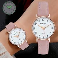 Часы женские наручные кварцевые с кожаным ремешком, модные повседневные Простые, с маленьким циферблатом, 2021