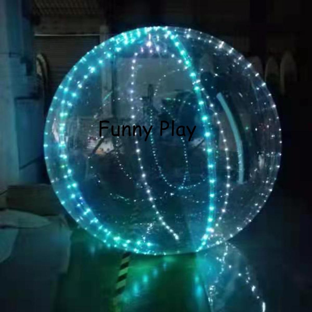СВЕТОДИОДНЫЙ Шар из ПВХ для водных прогулок шар зорб прозрачный надувной танцев