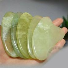 Jade Guasha Massage Board Natural Stone Gua Sha Scraper Beauty Tool Health Care Scraping Plate Lose