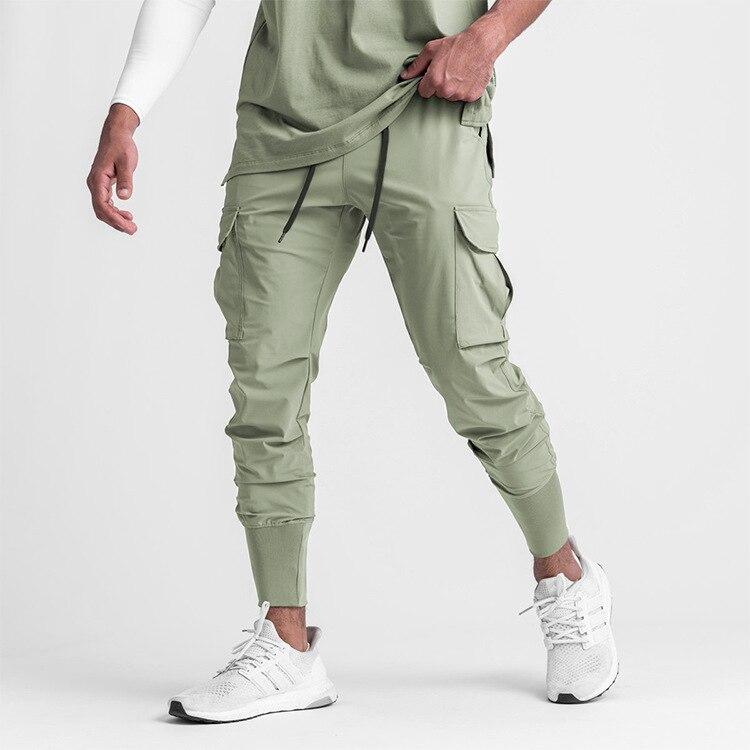 Мужские повседневные брюки ICCLEK, осень 2021, свободные прямые облегающие брюки, брюки-карго с кулиской, мужские брюки, мужские джоггеры