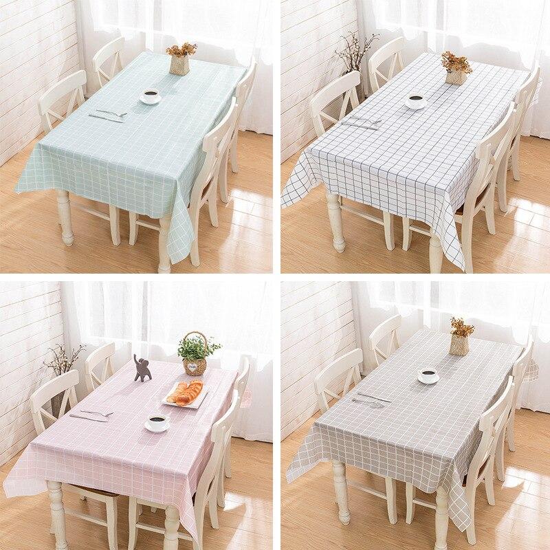 Mantel de plástico, Color de impresión, rosa, para boda, cumpleaños, fiesta, mesa, cubierta rectangular para escritorio, paño, mantel impermeable