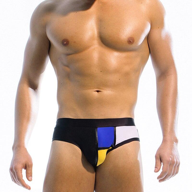 UXH Brand Men's briefs swimwear Brand man swimming trunks Beach Short Surfing Lashing sexy man triangular Hot sell summer