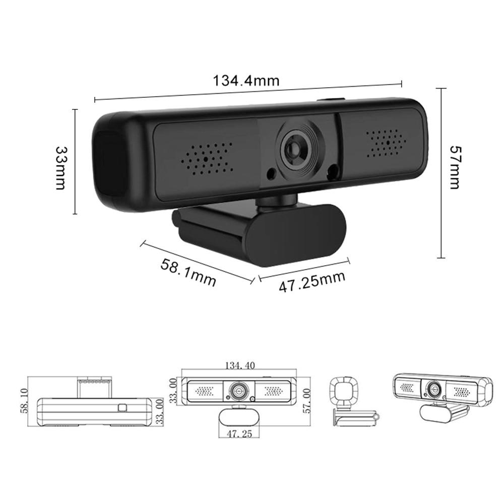 Autofocus Webcam 2k 1080p Camera HD Network USB Live Broadcast Driver-free Laptop Computer Web Cam Camera Microphone