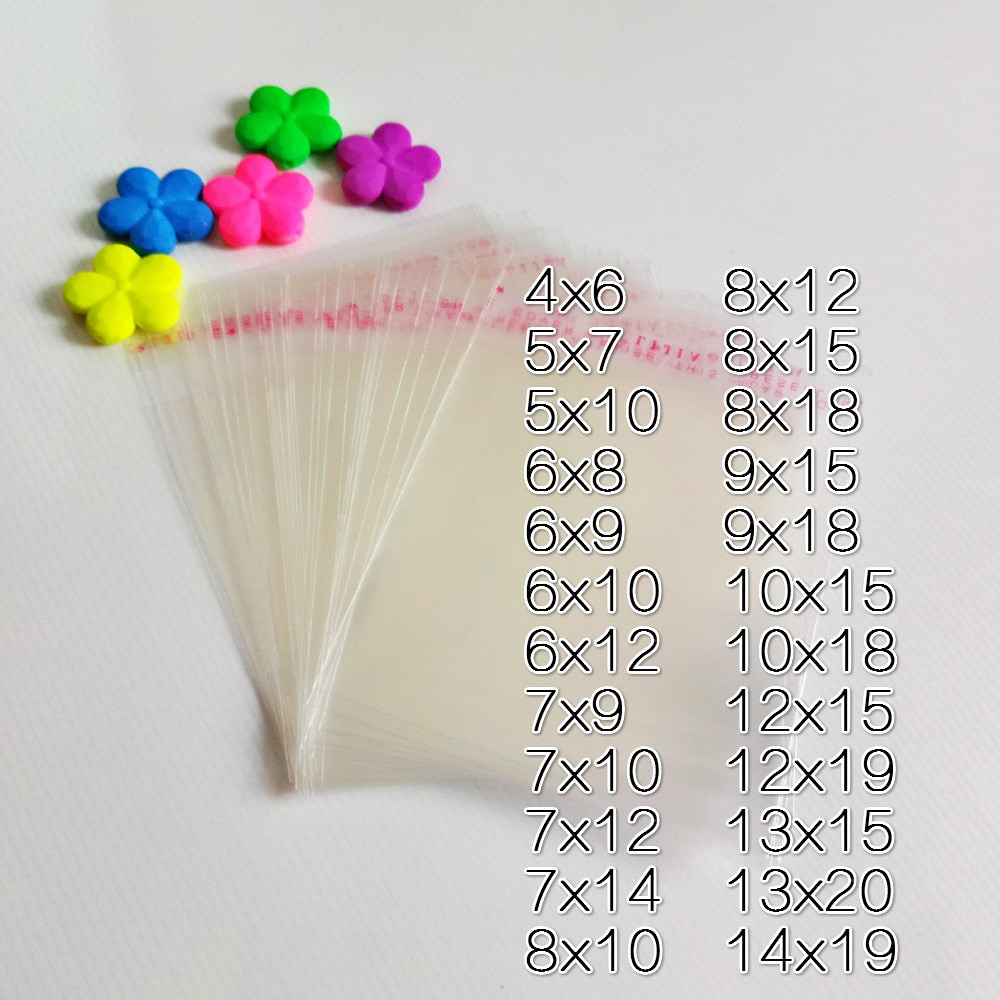1000pcs Cellophane Bags Packaging Opp Bag Self Adhesive Clear Transparent Bags for Jewelry Pouches Plastic Display Packing Bag 30pcs lot 2size translucent packaging bag plastic bags pouches wrappers cupcake 8 5x23cm