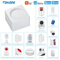 Towode     systeme dalarme DE securite domestique sans fil  wi-fi  GSM  1080P  camera HD  controle a distance avec application TUYA  EN RU ES PL DE Voice  DIY