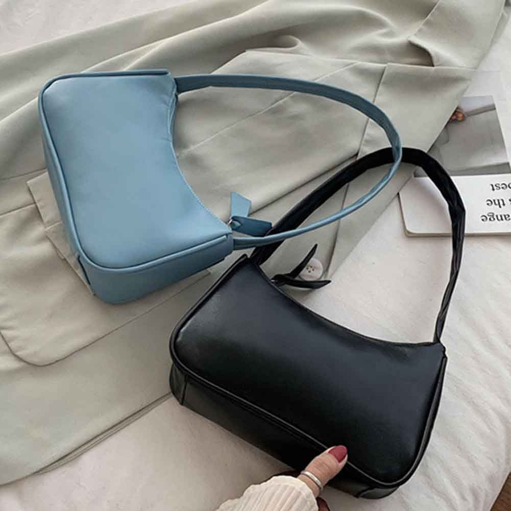 Handle Bag Women Retro Handbag PU Leather Shoulder Totes Underarm Vintage Top Handle Bag Female Smal