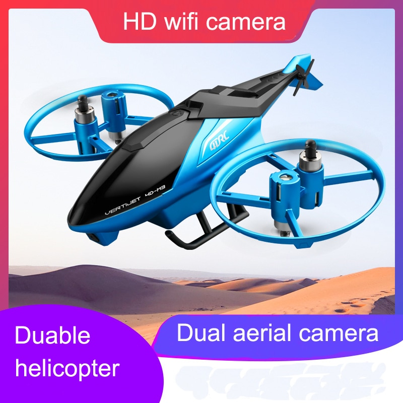 New NEW 4.5CH 2.4G RC Helicopter With HD Dual Camera Fall Resistant Distance 150m Stunt Roll Remote Control Plane Aerial Drone