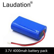 3.7V pil paketi 4000mAh 18650 pil 4Ah şarj edilebilir piller CCTV/hoparlörler/Robot/lambalar