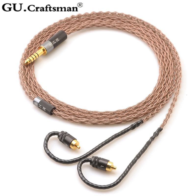 GUcraftsman 8-core OCC SONY IER-M7 IER-M9 IER-Z1R auriculares de 2,5mm 4,4mm equilibrado cable de actualización