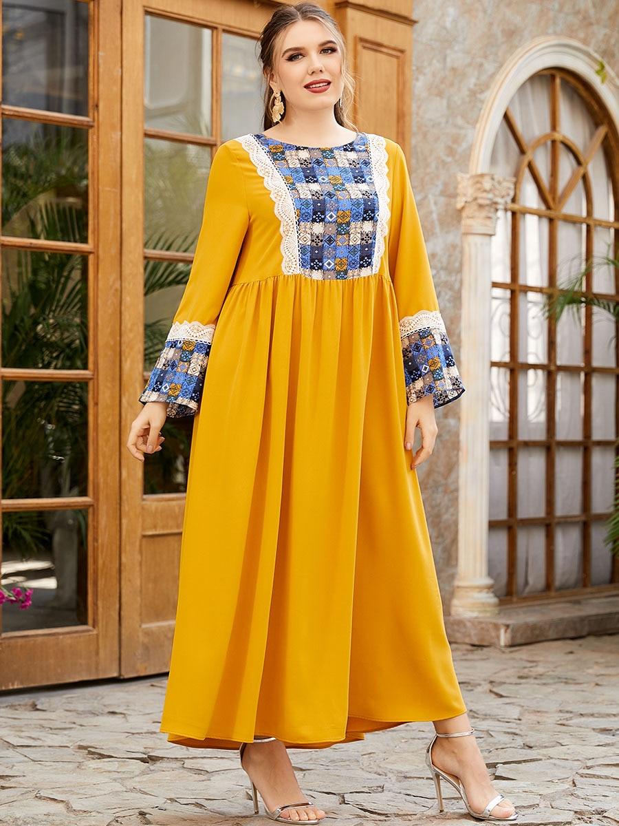 Muslim Fashion Abayas for Women Dubai Abaya Turkey Arabic Caftan Dress Eid Mubarak Islamic Clothing Vestidos Largos Kaftan Robe
