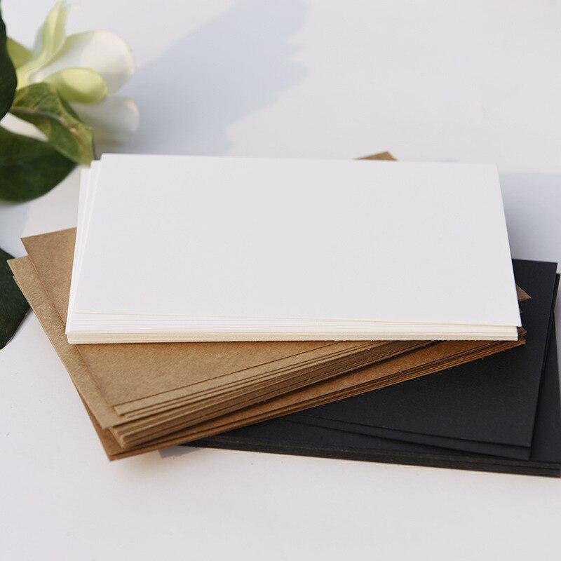 (20 sheets/lot) 14.8*9.8cm DIY Blank Paper Greeting Card Graffiti Black and White Kraft Paper