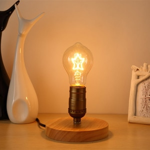 Table Lamps Loft Vintage Wood Table Light with Glass Lampshade Edison Table Beside Desk Lights for Bedroom Living Study Room CCC