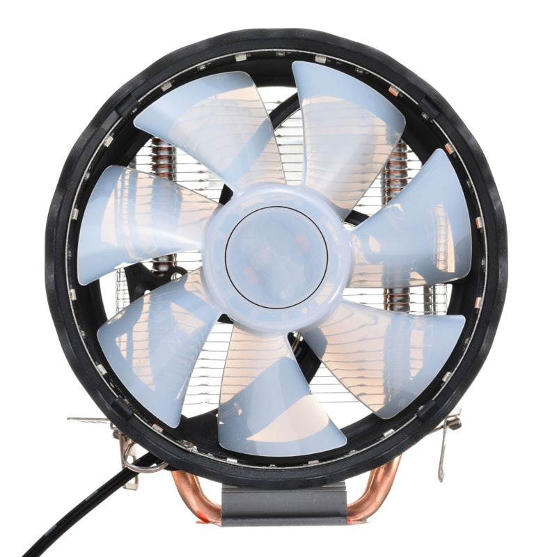 High Quality CPU Fan RGB LED Heatsink Cooling Fan Heat pipe Silent CPU Cooler For Intel LGA 1150/1151 AMD Desktop Accessories