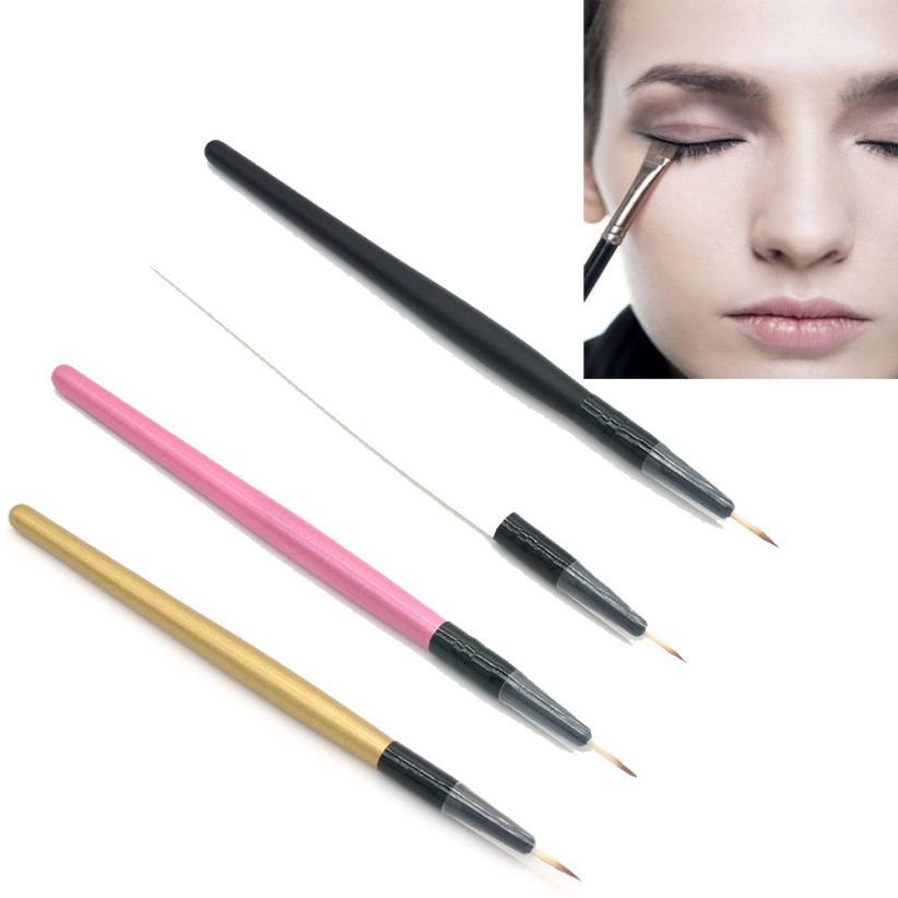 1pc recém eyeliner escova de madeira lidar com maquiagem escova delineador ferramenta de maquiagem cosméticos levert dropship freeshipping j1204