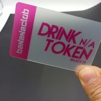 free design one side printing plastic pvc transparent business card printing