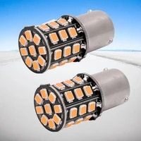 2pcs bau15s 7507 py21w 1156py high power amber yellow 33 smd 2835 led bulb for front turn signal lights direction indicator lamp