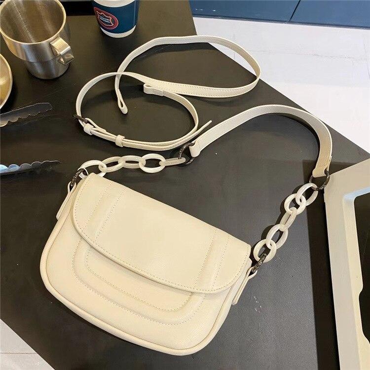 موضة جلد طبيعي حقيبة سادديل المرأة حقائب كتف المحافظ وحقائب اليد كيس فام الرئيسي كيس الرئيسي