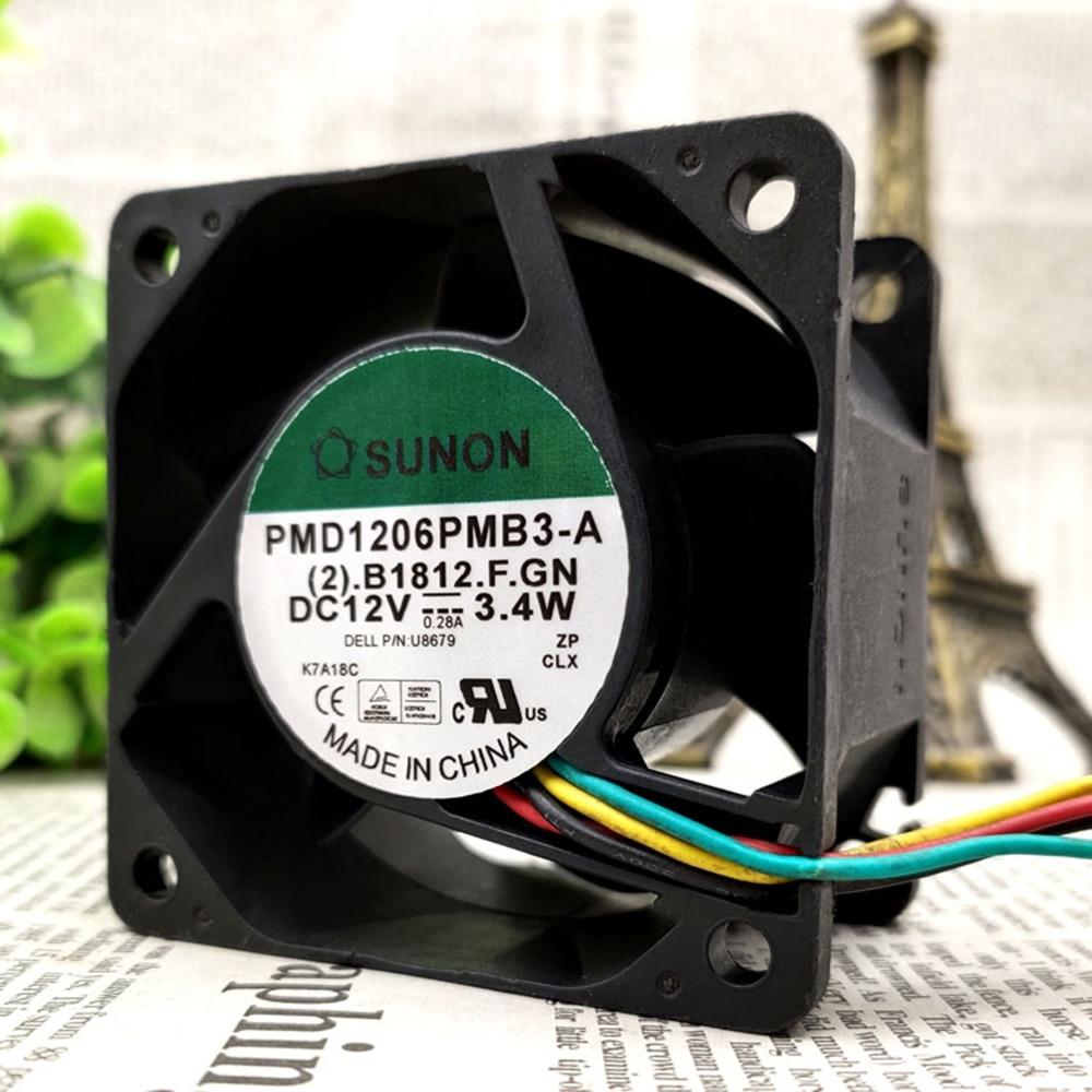 For Sunon PMD1206PMB3-A P/N : 0U8679 U8679 DC 12V 3.4W 60x60x38mm 4Wire 5Pin for SX280 GX620 SX745 SX755 760 USFF cooling fan