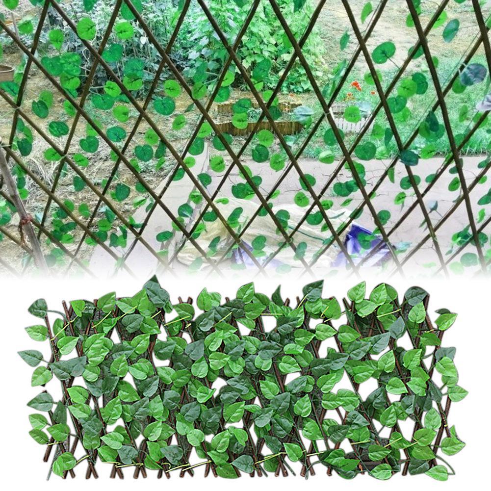 Extensión jardín edificios cerca de hoja verde Artificial rama UV protegido de pantalla de privacidad patio decoración del hogar verde de la pared