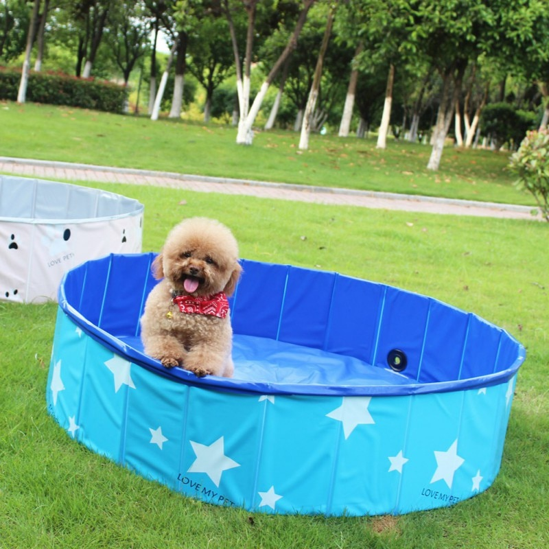 Piscina de perro de 80x30cm, bañera plegable de PVC para mascotas, para perros, gatos, ducha, piscina, casa, cama plegable, piscina