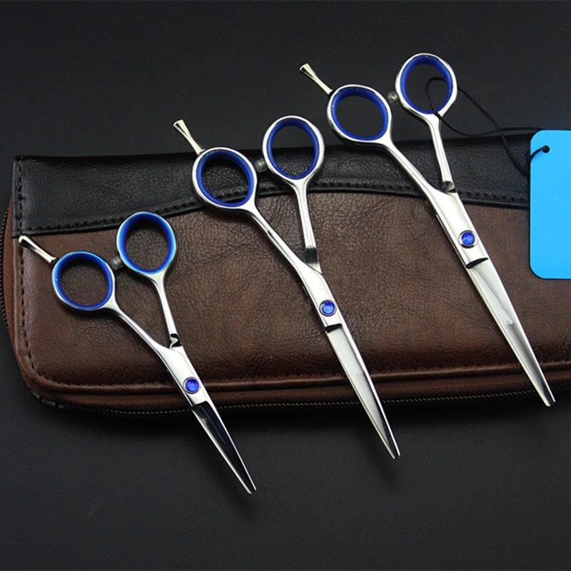 Profesional Japón 440C 4 5 5,5 tijeras de pelo pequeñas tijeras de corte tijera ceja Barbero maquillaje tijeras de corte peluquería tijeras