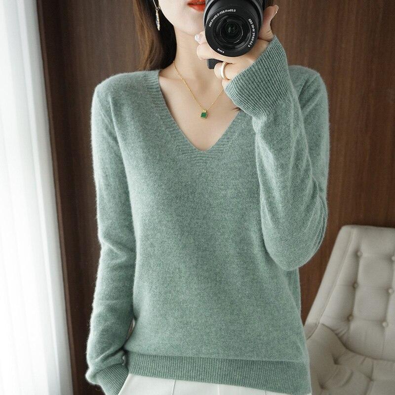 Осенне-зимний кашемировый свитер, Женский Теплый трикотажный свитер, женский зимний свитер