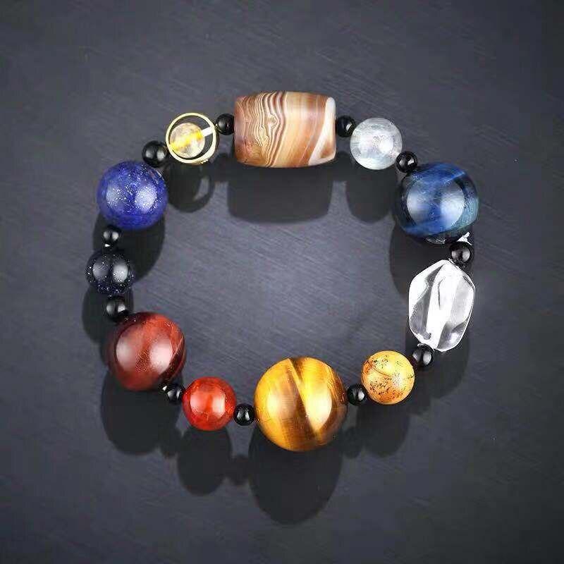 Venta de pulsera de hombre, Cuenta de piedra lunar Natural, pulsera tibetana de Buda, pulseras difusoras de piedra de chakra, regalo de joyería para hombre, triangulación de envíos